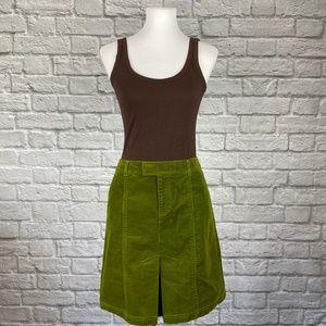 VINTAGE Lilly Pulitzer Green Corduroy Skirt